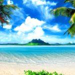 Обои тропический пляж