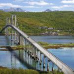 Мост Тьелдсунд вблизи города Нарвик. Норвегия